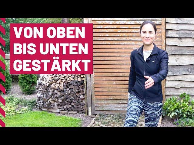 Pilates Übungen im Stehen | Pilates Ganzkörper Workout für Anfänger