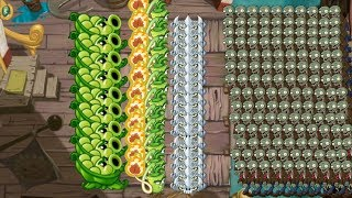 Sling Pea, Wasabi whip and Spikerock Plants vs Zombies 2