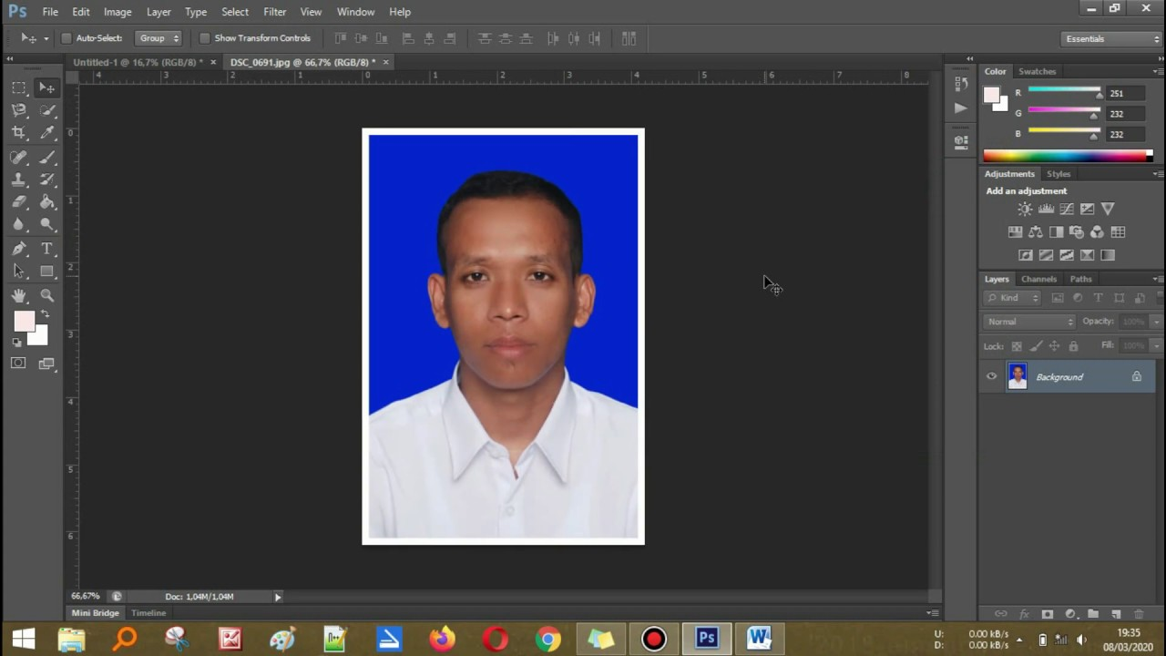 cara edit foto ukuran 4x6 di photoshop - YouTube