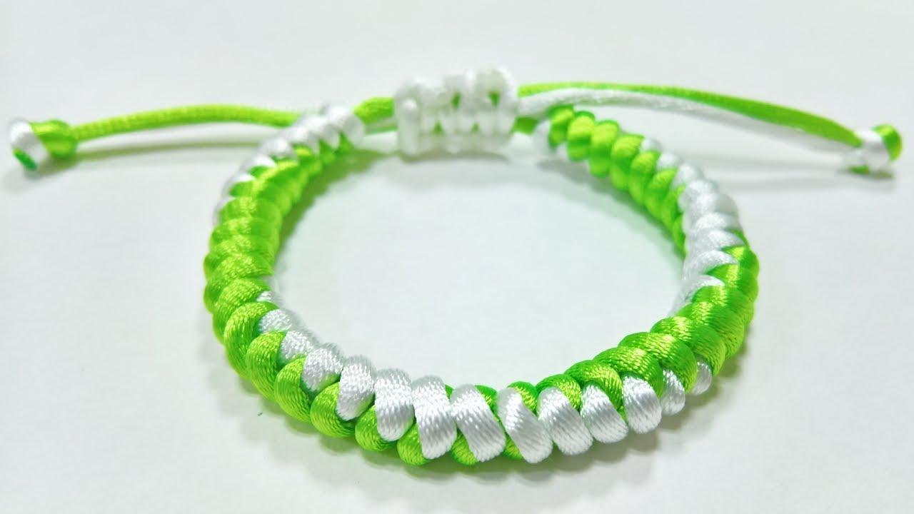 HƯỚNG DẪN LÀM VÒNG TAY MAY MẮN ĐƠN GIẢN NHẤT 1 – (ENG) Lace Lucky Bracelet Square Knot