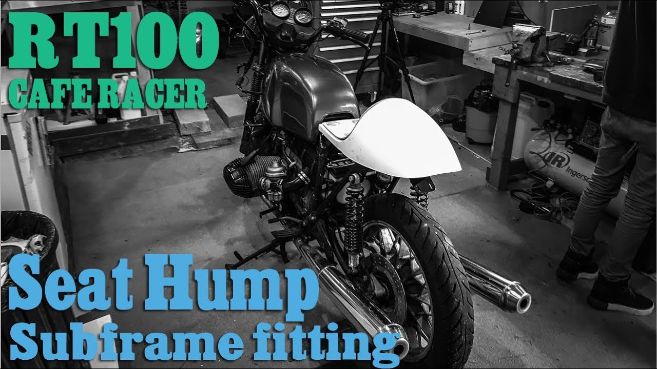 BMW R100 Cafe Racer - Subframe & Seat hump fitting