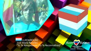 José María Revelles - Tú Te Reconocerás (Luxembourg) - Euro Singers Fans Contes 2 cover