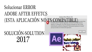Error en Adobe AfterEffects cs6 (esta aplicación no es compatible) SOLUCIÓN WINDOWS8.1