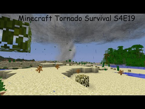 Minecraft Tornado Survival (Localized Weather Mod) S4E19 TORNADO!