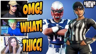 STREAMERS REACT TO NEW REFERE SKINS AND NFL SKINS! (Fortnite Stream Highlights)