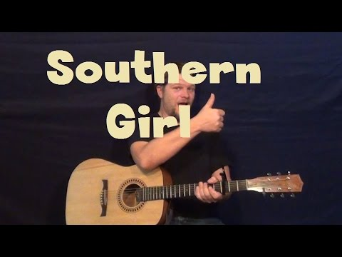 Southern Girl (Tim McGraw) Easy Guitar Lesson Strum Chords with TAB Solo Licks Tutorial
