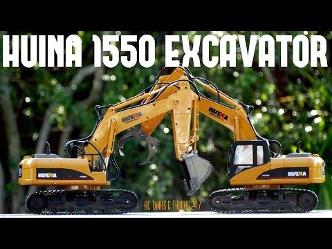 HUINA 1550 RC EXCAVATOR - How Powerful Ls It?