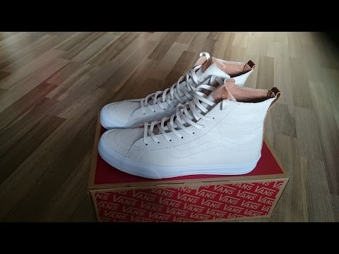 6eb524376291b0 Vans sk8 hi all white review and on feet