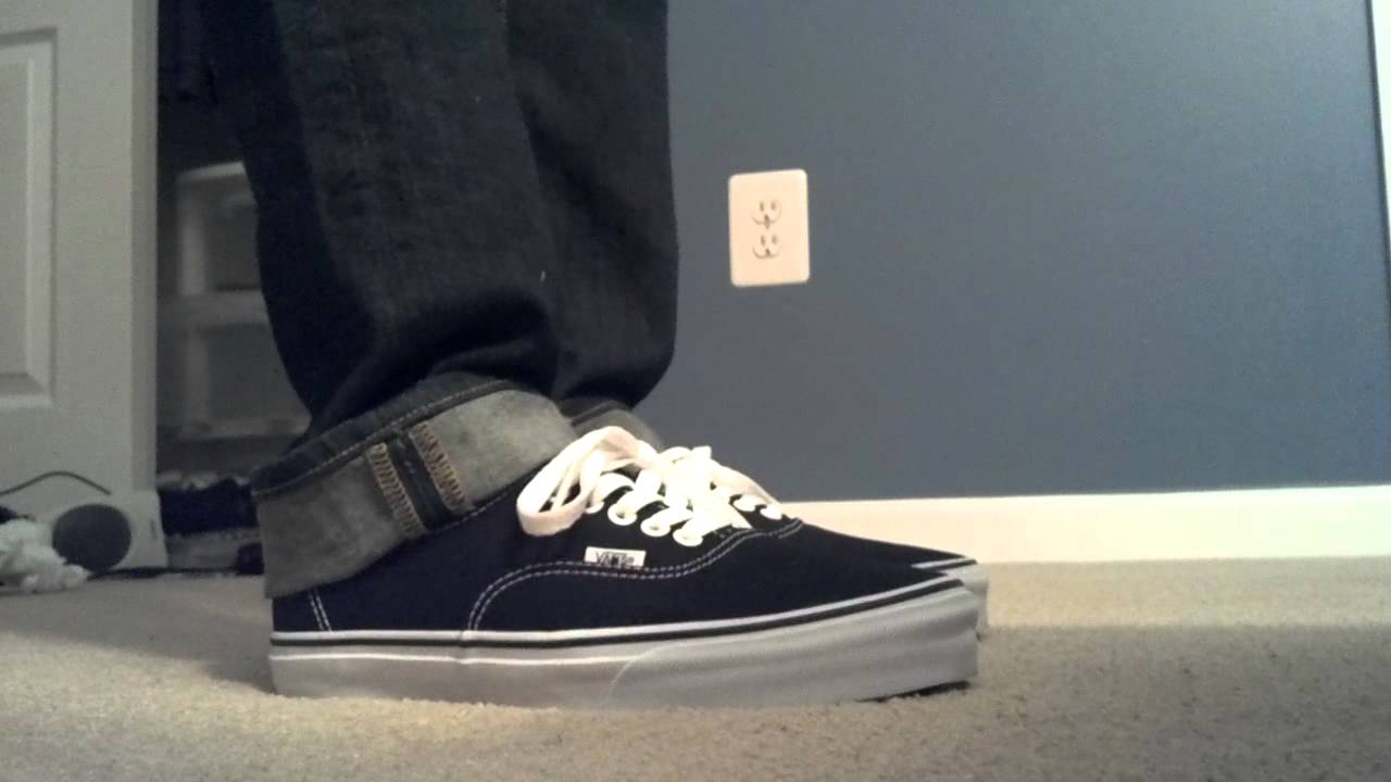 7db90ea5343 Vans Authentic On Feet - YouTube