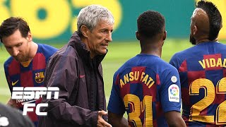 Lionel Messi ignores Barcelona's coaching staff: Is Quique Setien's future in jeopardy? | ESPN FC
