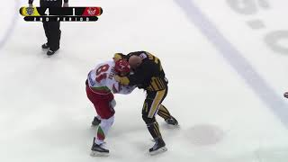 Mathieu Gagnon vs Justin Faryna EIHL fight 20-1-18
