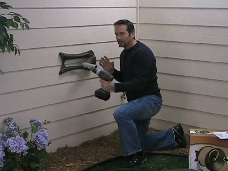 Installation Wall Reel Onto House Youtube