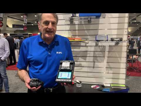 Doug at OFC 2019 talks Fujikura 41S Fusion Splicer