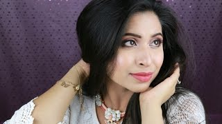 GRWM | Daytime Glam Makeup and Hair Style | Indian Wedding Party Makeup
