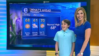 Karen Rogers' son gives forecast on 'Take Your Child to Work Day'