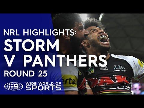 NRL Highlights: Melbourne Storm v Penrith Panthers - Round 25