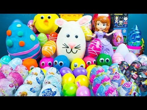 Thumbnail: 75 SURPRISE EGGS! Play-Doh My Little Pony Disney Princess Toys Frozen Big Hero 6 Kinder Playtime