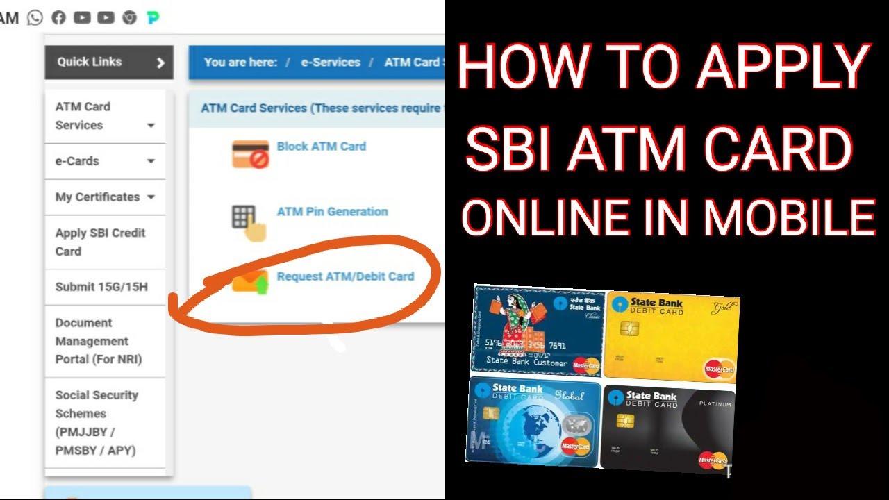 sbi new debit card apply