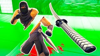 I Cut a Ninja in Half with a Katana and He Was Little Upset in Ninja Legends VR!