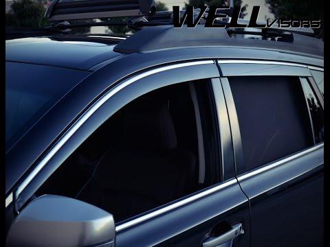 Wellvisors Window Visor Installation Video Subaru Outback 10 14 Youtube