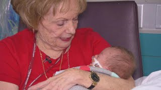 Retired Teacher Cuddles Newborn Babies Too Sick or Small to go Home With Parents