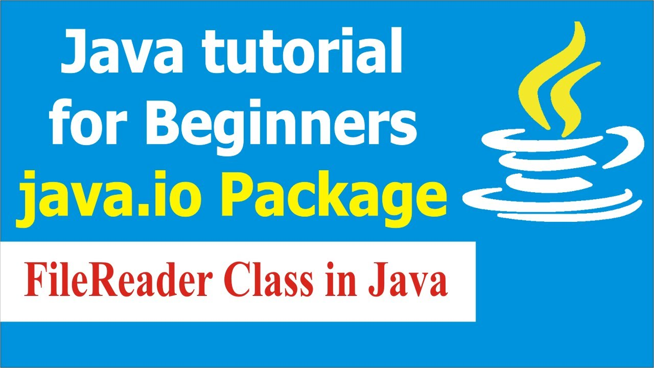 Java Programming Tutorials - How to use FileReader Class