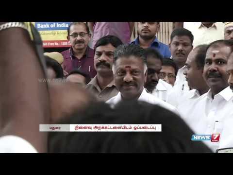 O. Pannerselvam gives gold armour to Devar guru pooja | News7 Tamil