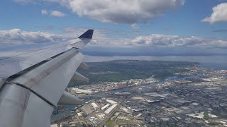 Beautiful site - flying over Seattle and landing at SeaTac in Airbus A330! (Jun, 2017)