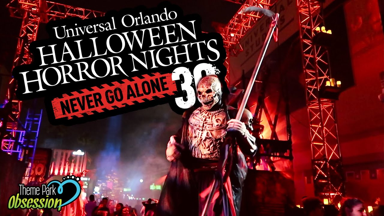 My First Night at Halloween Horror Nights 30 in Orlando! Universal Orlando Resort!