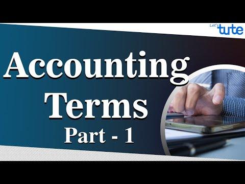 Basic Accounting Terminology | LetsTute Accountancy