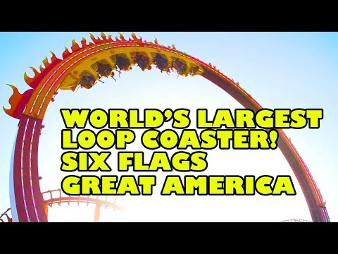World's Largest Loop Coaster New for 2018 Six Flags Great America