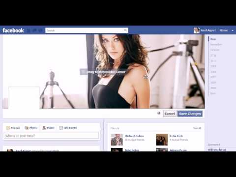 how to change timeline photo in facebook