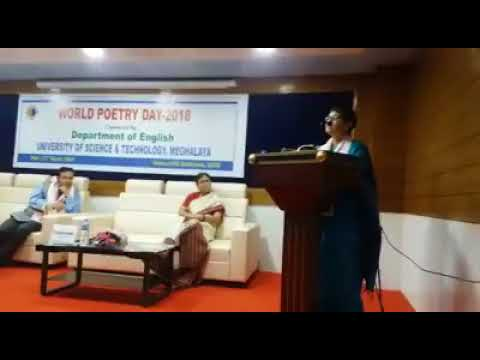 Poetry reading by Dr. Nabanita Kanungo on the occasion of World Poetry Day at USTM.
