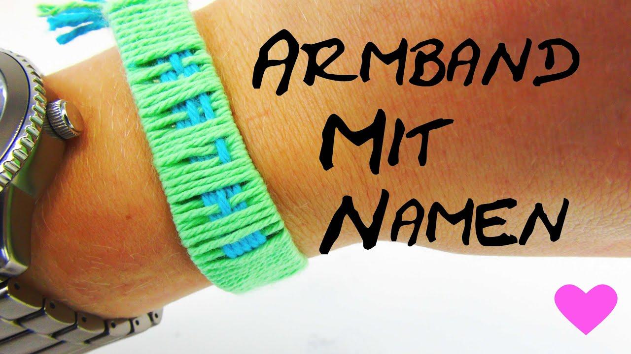 Armband mit Namen selber machen DIY Anleitung How To make name bracelets  YouTube