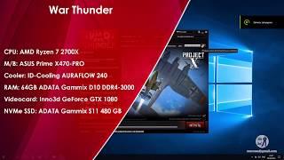 War Thunder - AMD Ryzen 7 2700X + Geforce GTX 1080