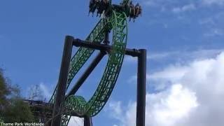 Green Lantern First Flight Off Ride HD Six Flags Magic Mountain