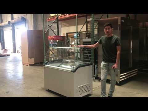 Gelato Ice Cream Dipping Cabinet Freezer Display Cases Display chest freezer