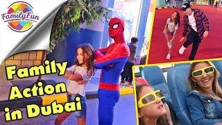 FAMILY ACTION in DUBAI - Adventurepark & Burj Khalifa | Family Fun on Tour