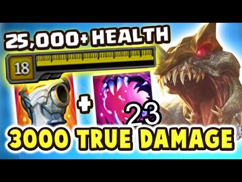 OVER 25,000 HEALTH | 3000+ TRUE DAMAGE FEAST | MAXIMUM HP CHO'GATH JUNGLE IS SO BROKEN