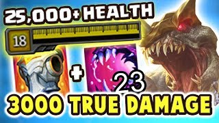 over 25 000 health   3000 true damage feast   maximum hp cho gath jungle is so broken nightblue3