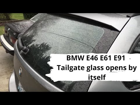 Bmw e46 e61 e91 tailgate glass opens by itself youtube asfbconference2016 Images