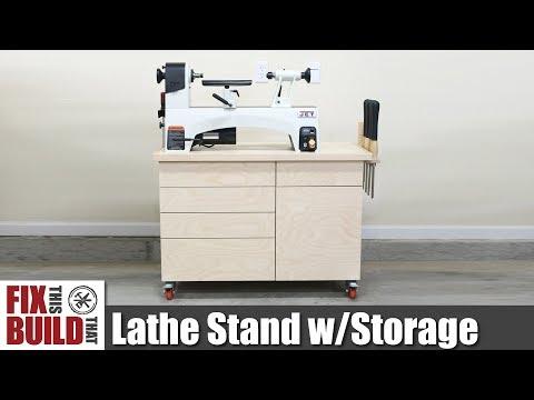 Lathe Stand Mobile Workstation | DIY Woodworking Strorage