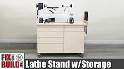 Lathe Stand Mobile Workstation | DIY Woodworking Strorage