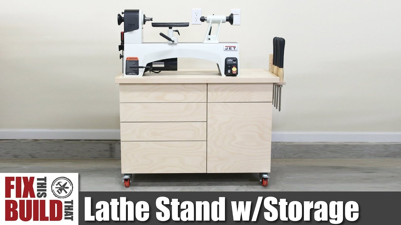 Lathe Stand Mobile Workstation Diy Woodworking Strorage Youtube