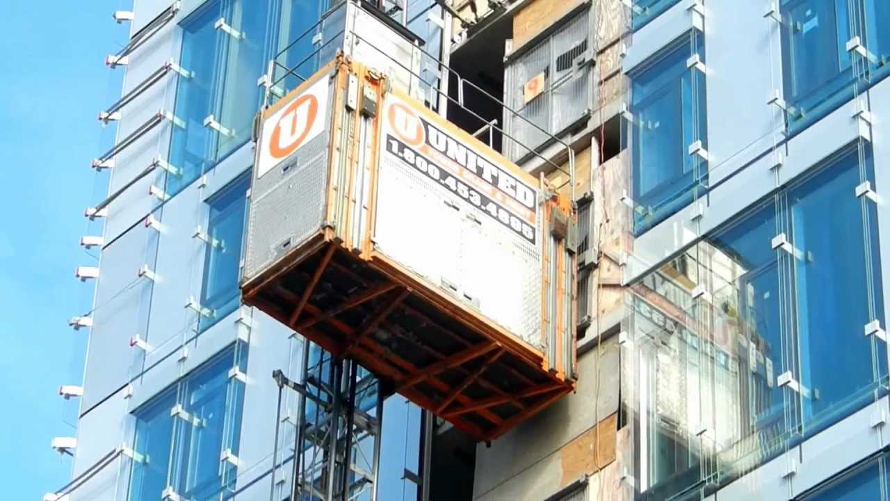 Building Built With No Elevator : Elevator at a building construction site youtube
