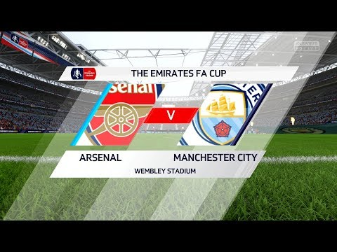 FIFA 18  Arsenal vs Manchester City   FA Cup Final Gameplay with Trophy Presentation