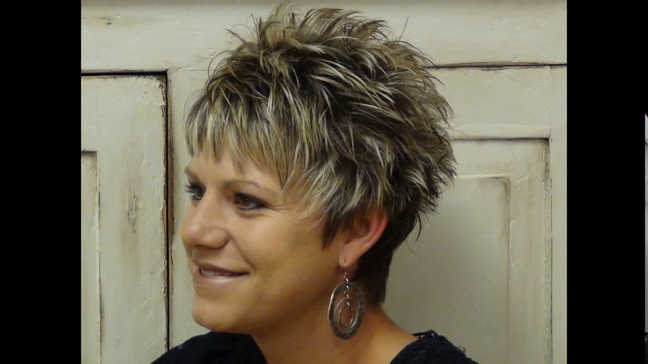 Hair Styles For Short Hair Older Ladies: Short Spiky Haircuts For Older Women