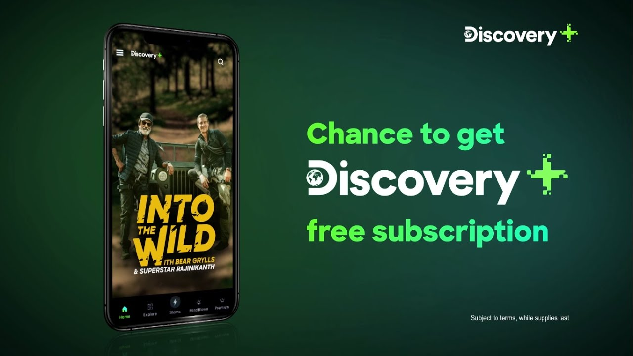 Earn a chance to get a free Discovery Plus subscription with Google Pay