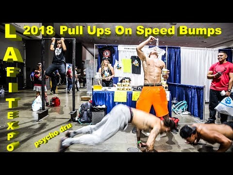 Los Angeles Fitness Expo 2018 (Day 1) - Speed Bump Energy Pre Workout Pull Up Contest!