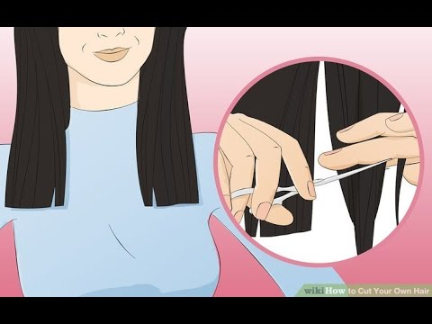 How To Self Trim Straight Hair Save Youtube